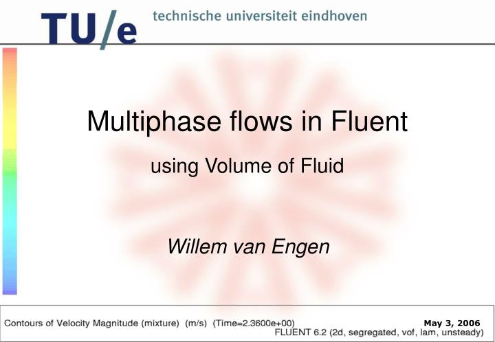 Using volume of fluid