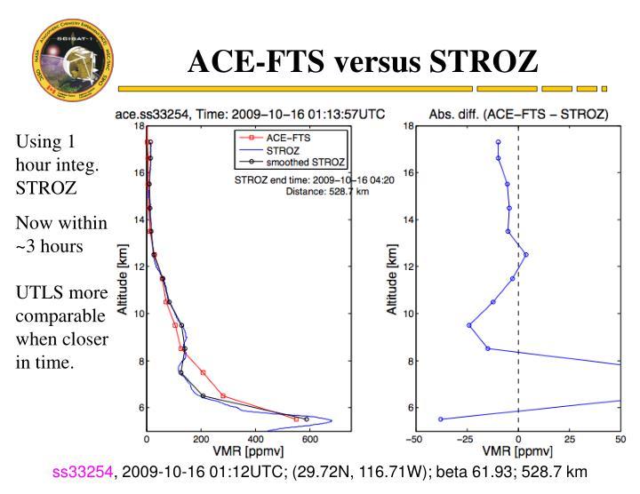 ACE-FTS versus STROZ