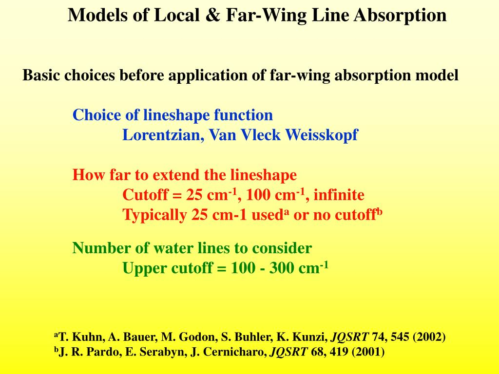 Models of Local & Far-Wing Line Absorption