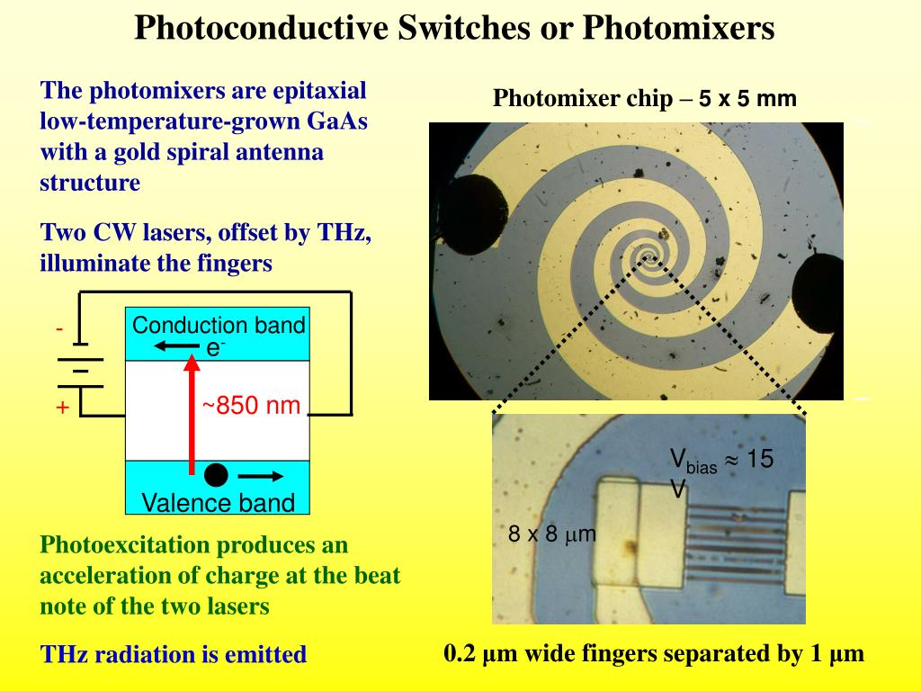 Photoconductive Switches or Photomixers