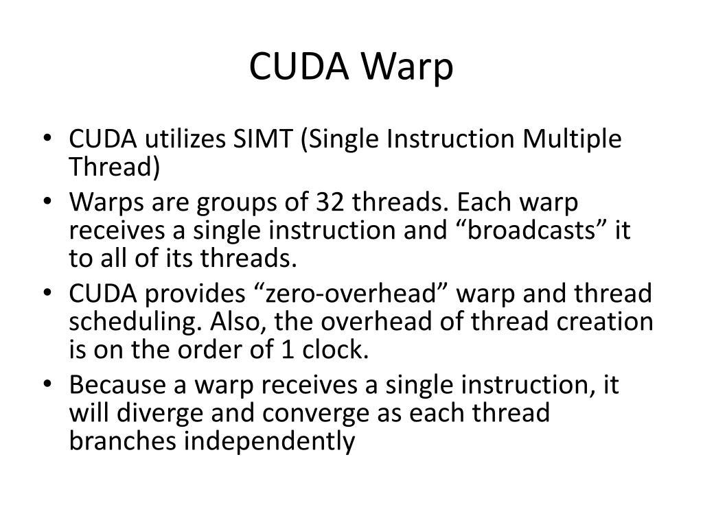 CUDA Warp