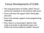 future developments of cuda