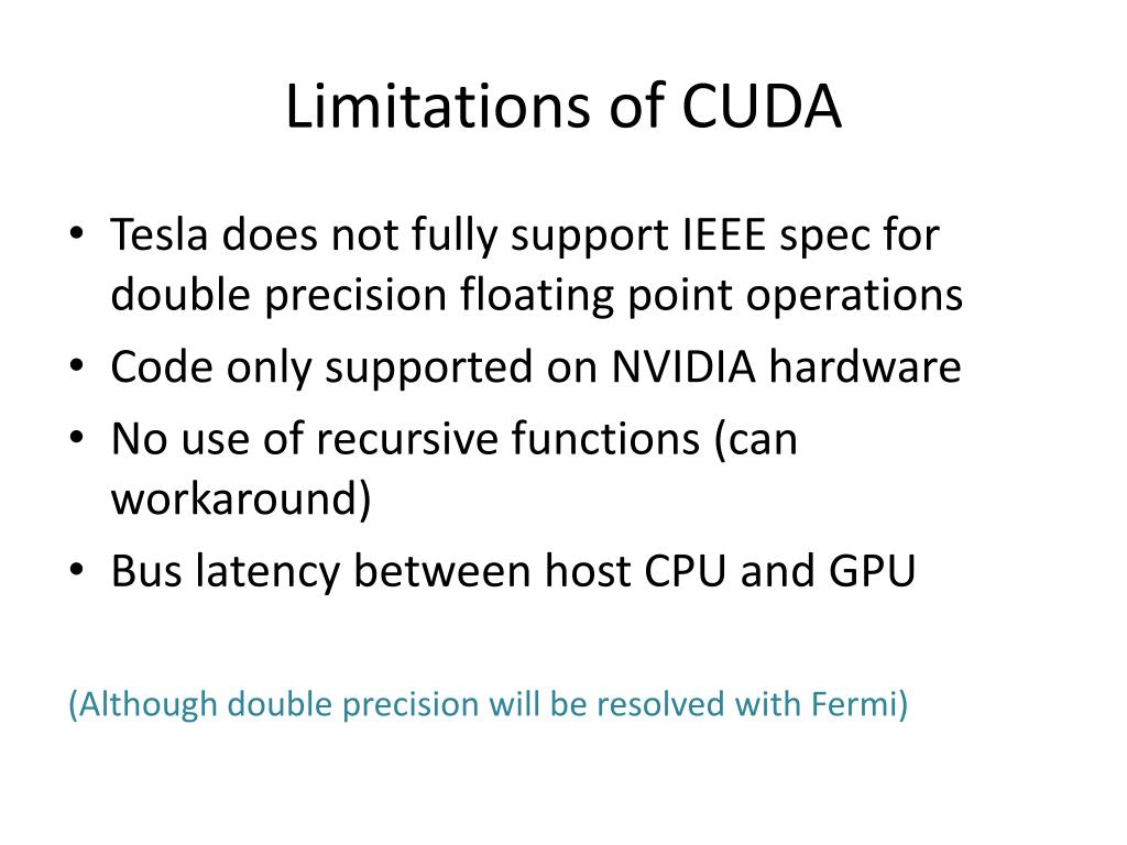 Limitations of CUDA