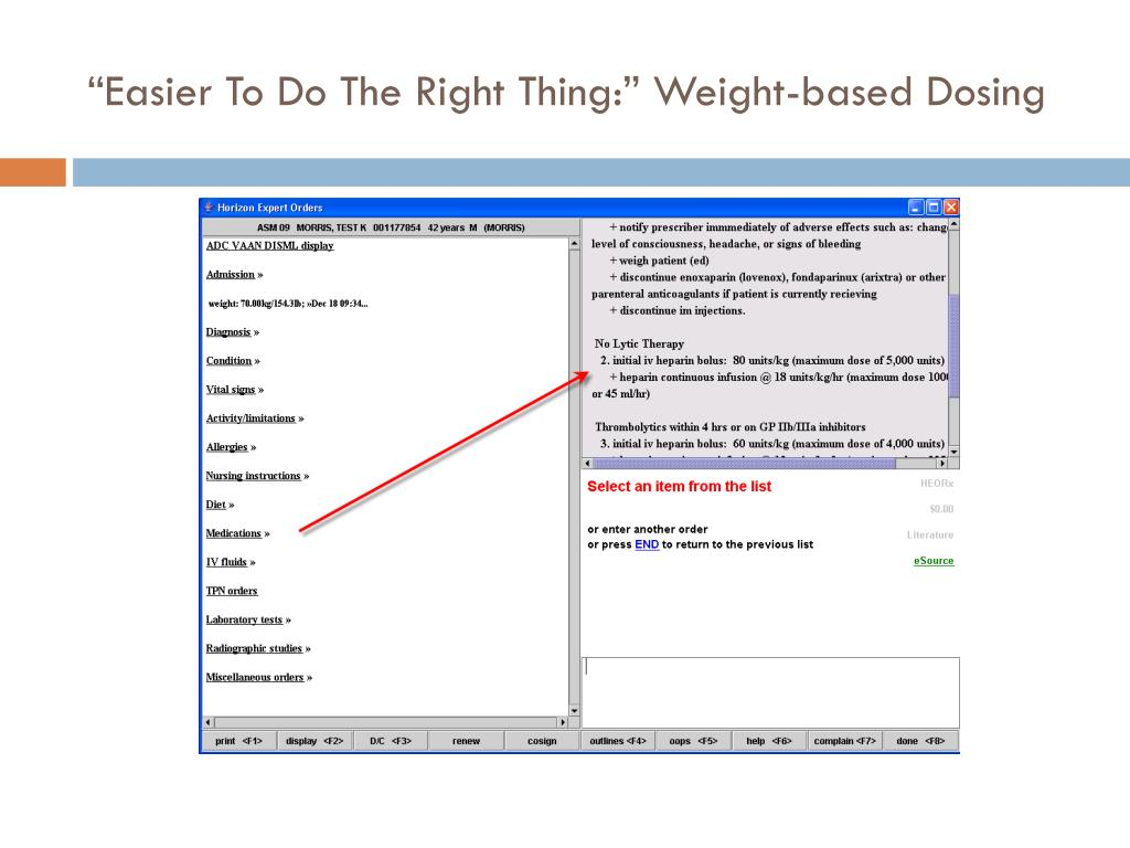 """""""Easier To Do The Right Thing:"""" Weight-based Dosing"""