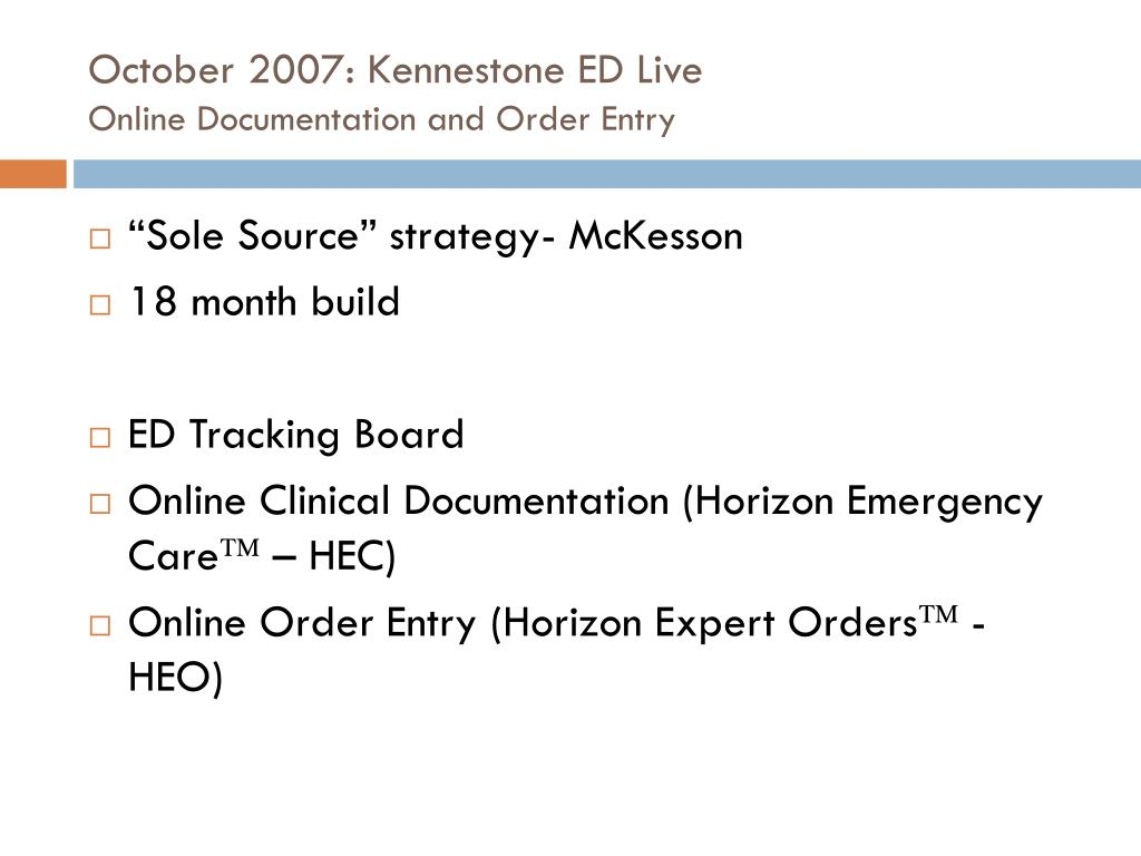 October 2007: Kennestone ED Live