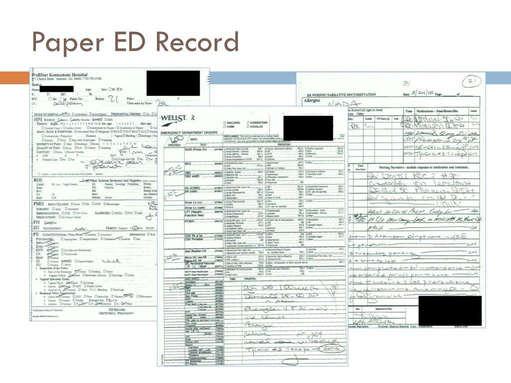 Paper ED Record