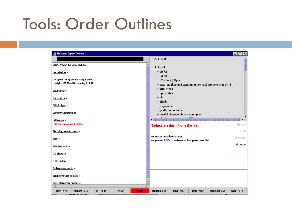 Tools: Order Outlines