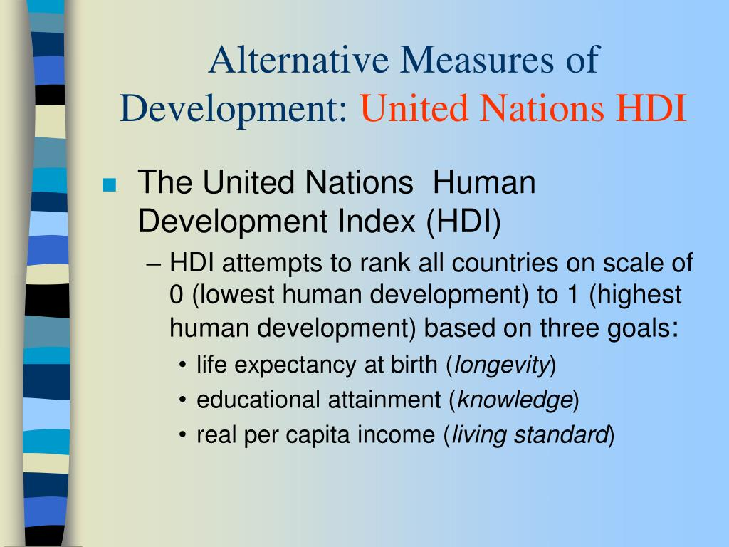 Alternative Measures of Development: