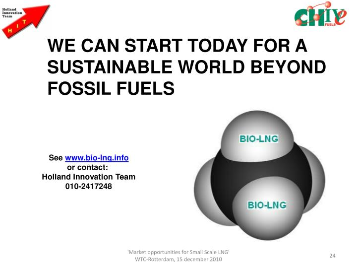 WE CAN START TODAY FOR A SUSTAINABLE WORLD BEYOND FOSSIL FUELS