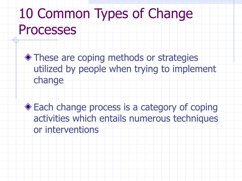 10 Common Types of Change Processes