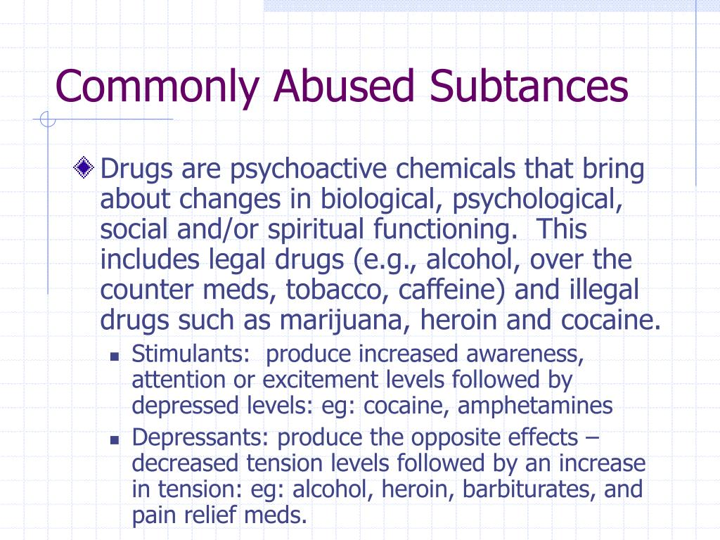 Commonly Abused Subtances