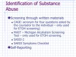 identification of substance abuse18