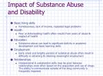 impact of substance abuse and disability