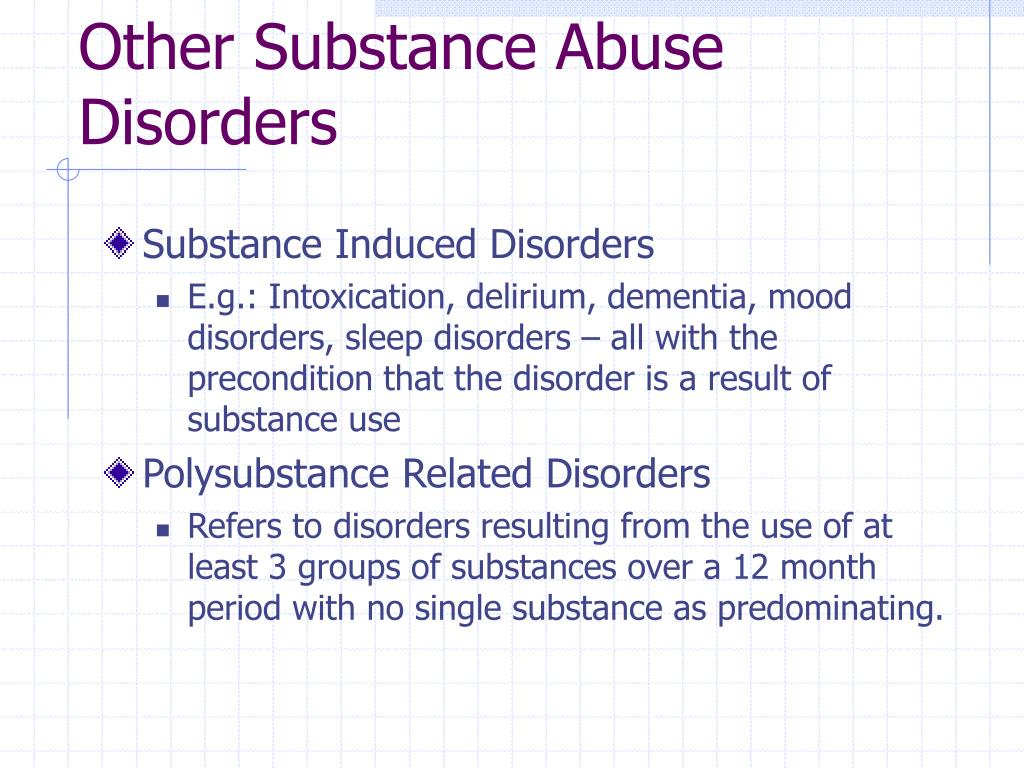 Other Substance Abuse Disorders