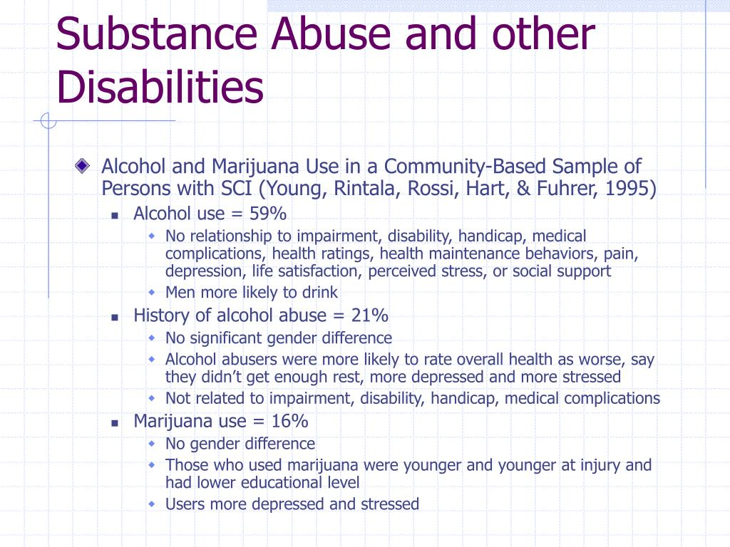 Substance Abuse and other Disabilities