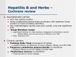 hepatitis b and herbs cochrane review