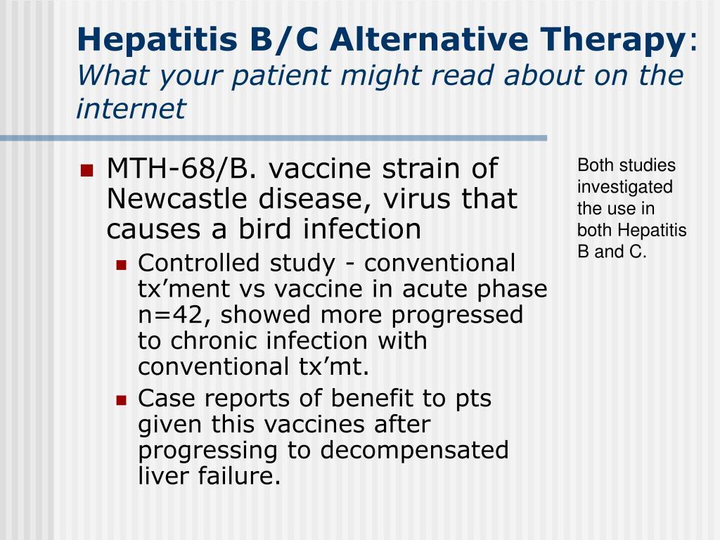 Hepatitis B/C Alternative Therapy