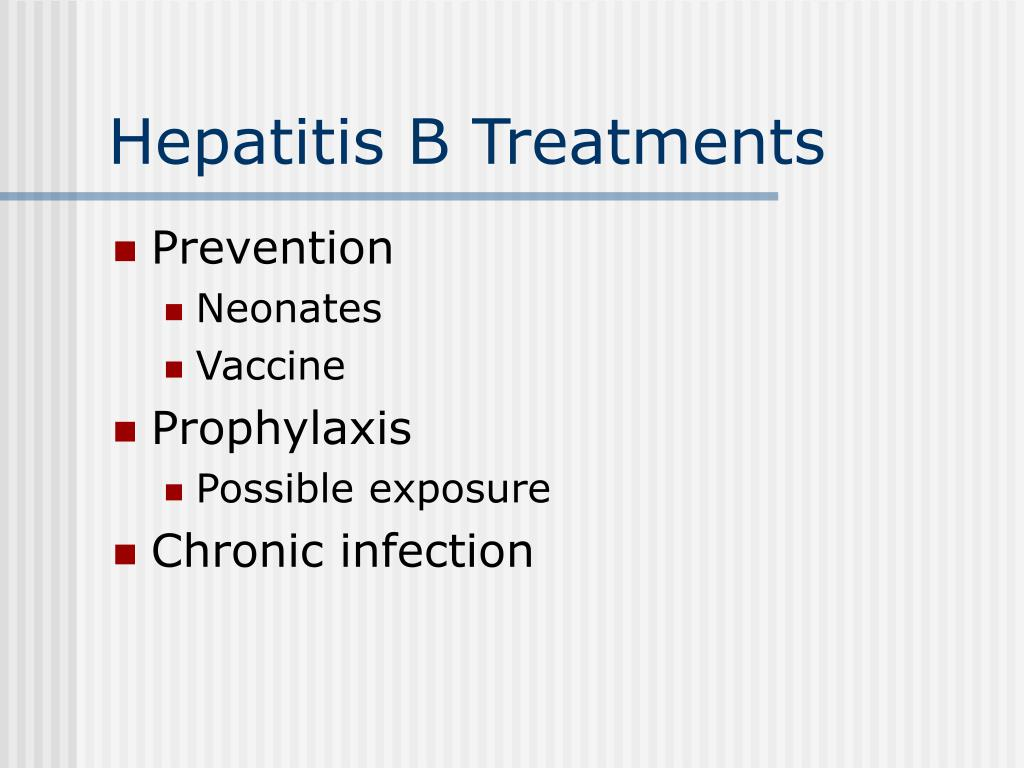 Hepatitis B Treatments