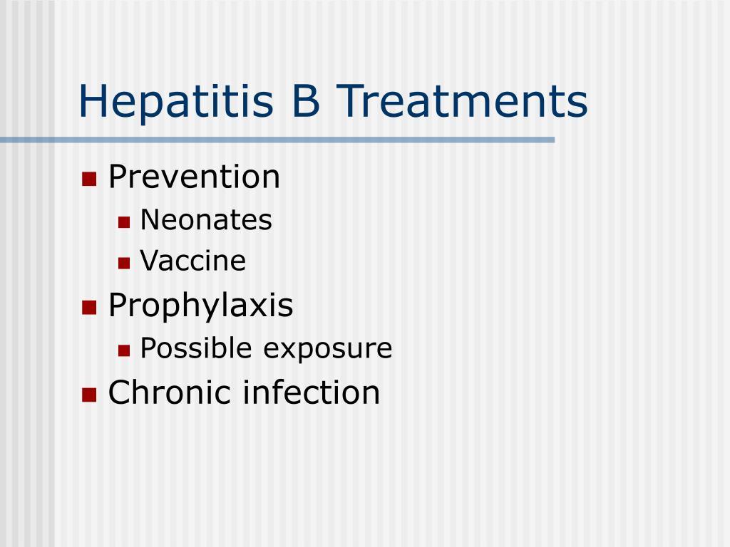 Hepatitis B Treatments