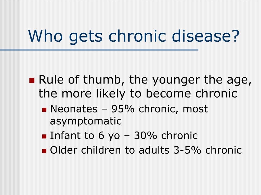 Who gets chronic disease?