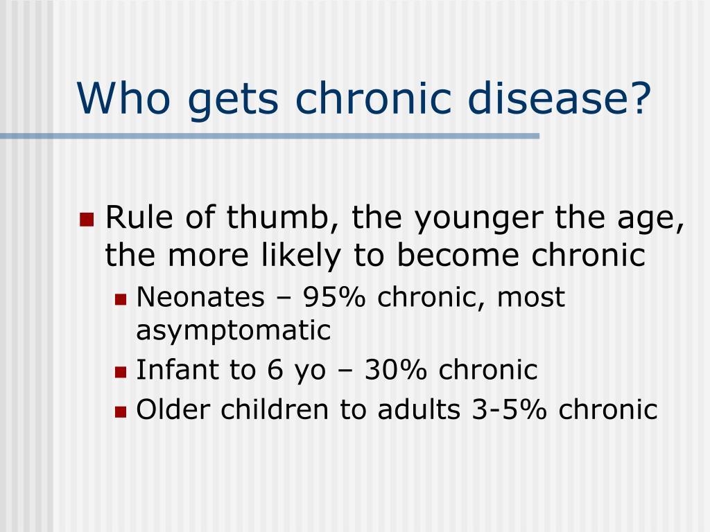 Who gets chronic disease?