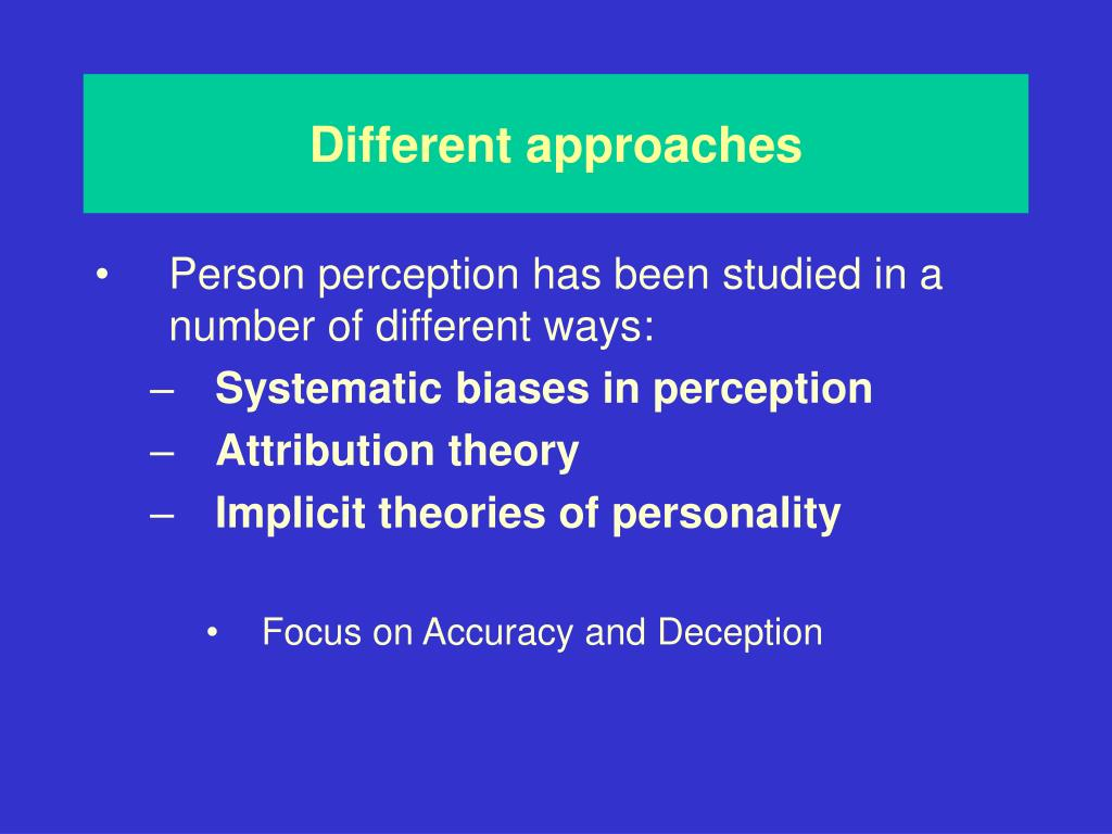 discourse perception and deception Introduction perception is the study of how sensory information is processed into perceptual experiences in some cases, actions are guided by sensory information.