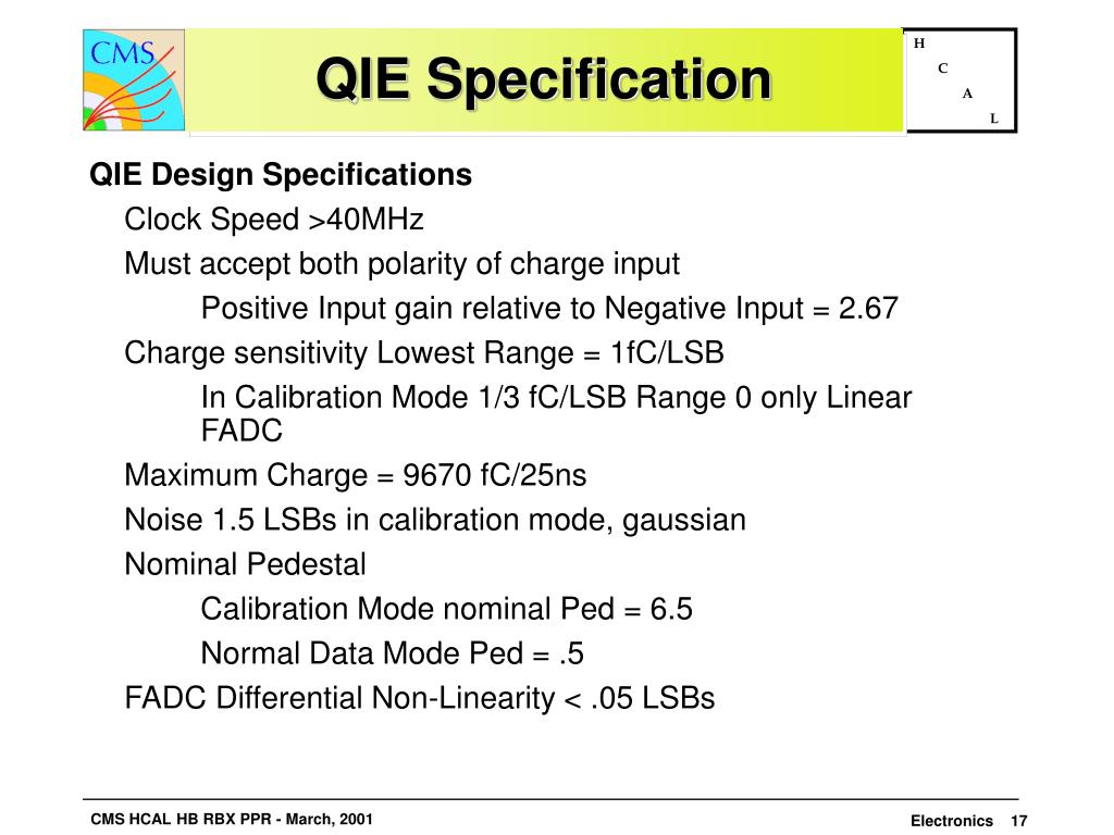 QIE Specification