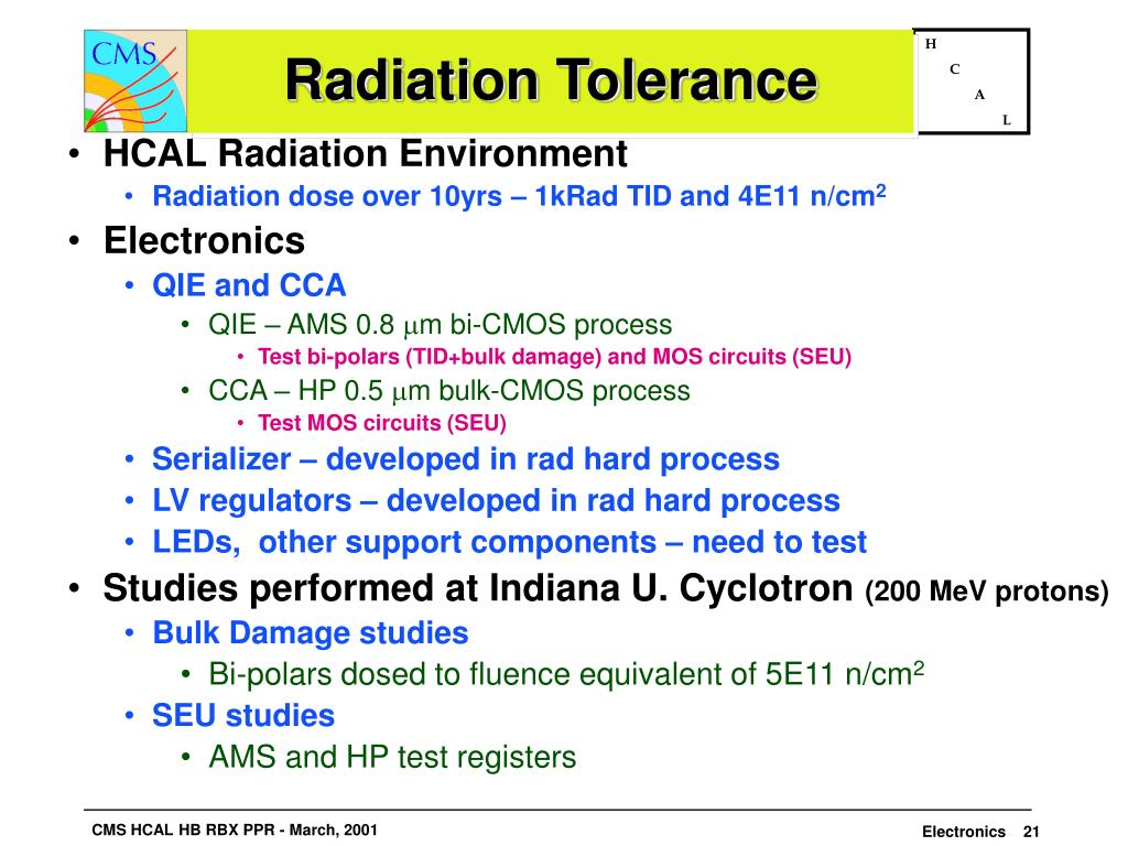Radiation Tolerance