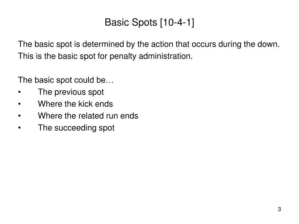 Basic Spots [10-4-1]