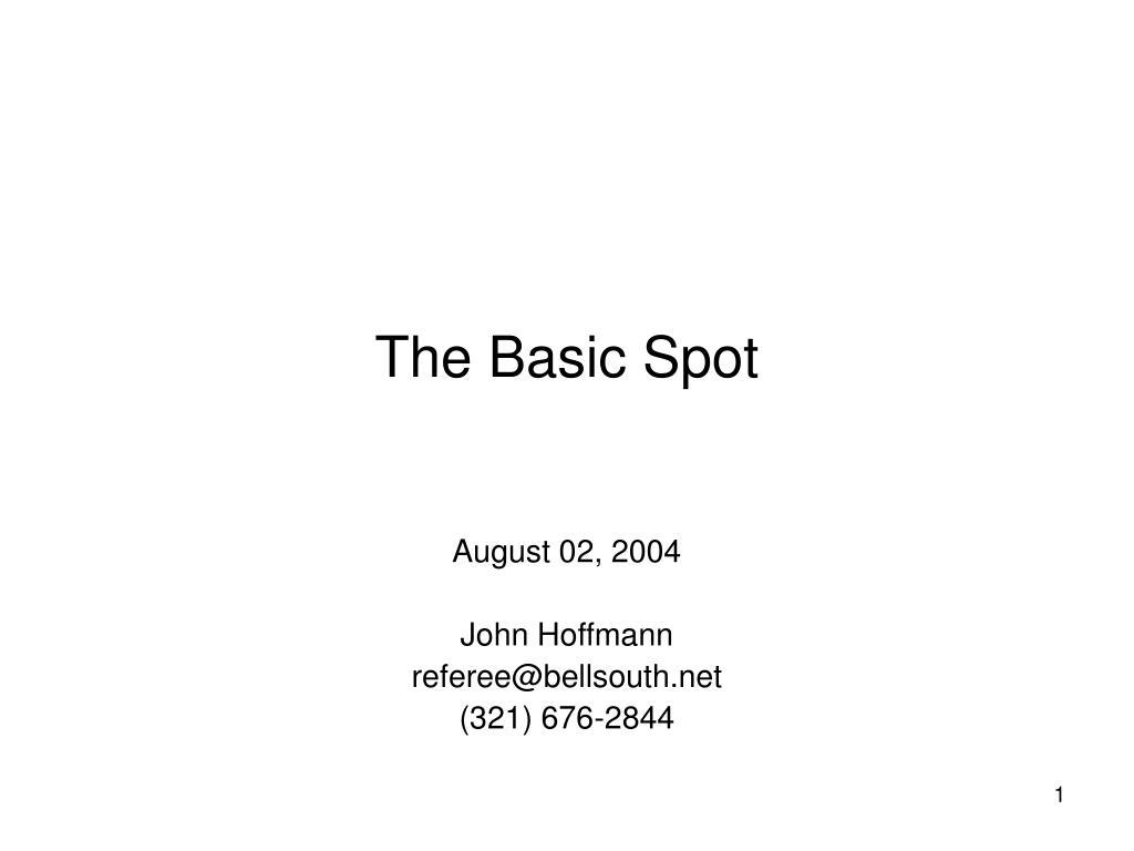 The Basic Spot