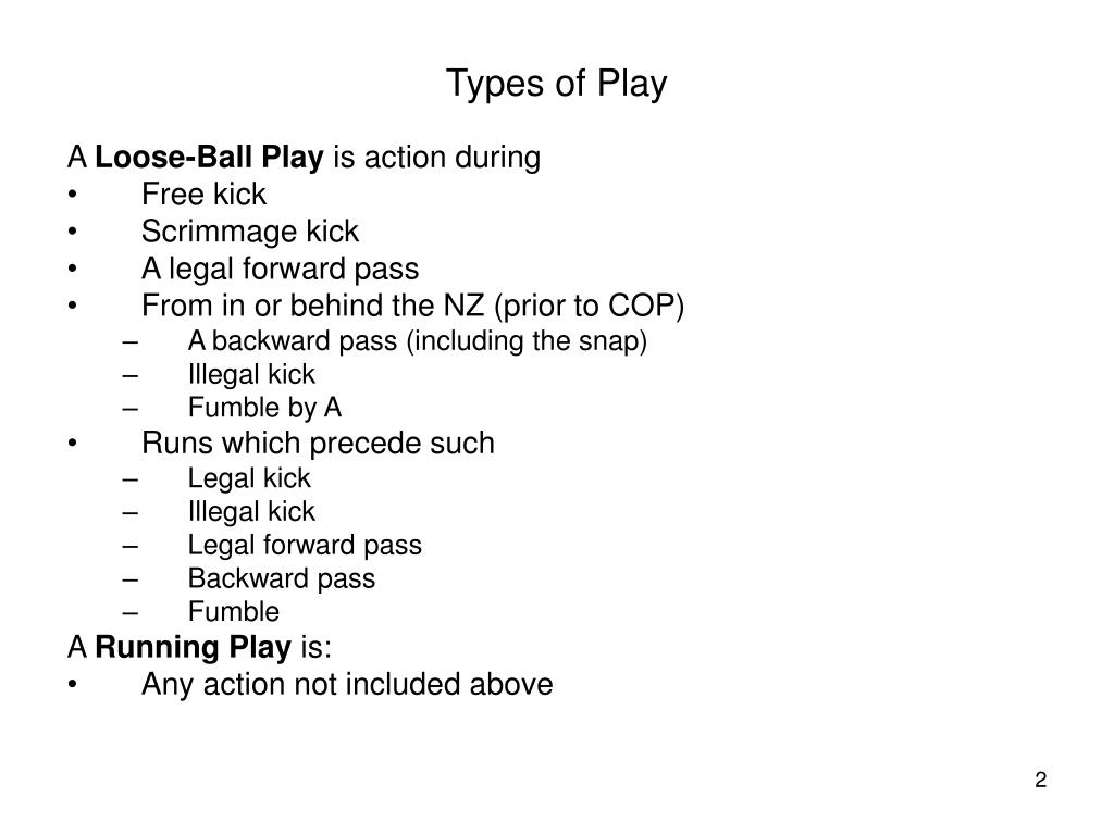 Types of Play