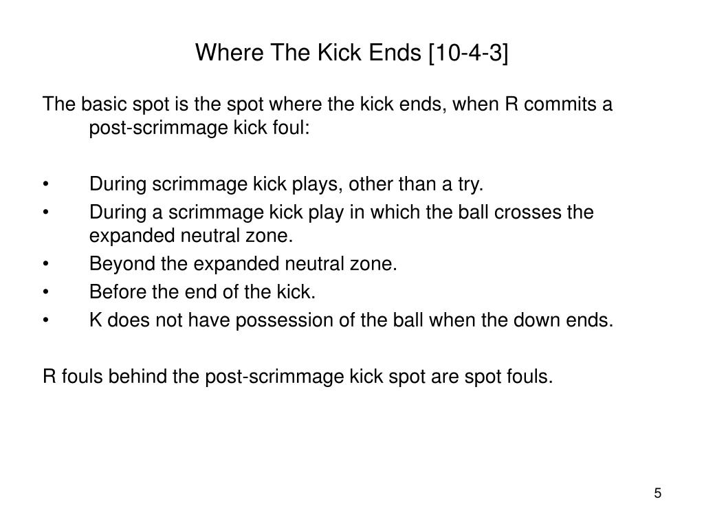 Where The Kick Ends [10-4-3]