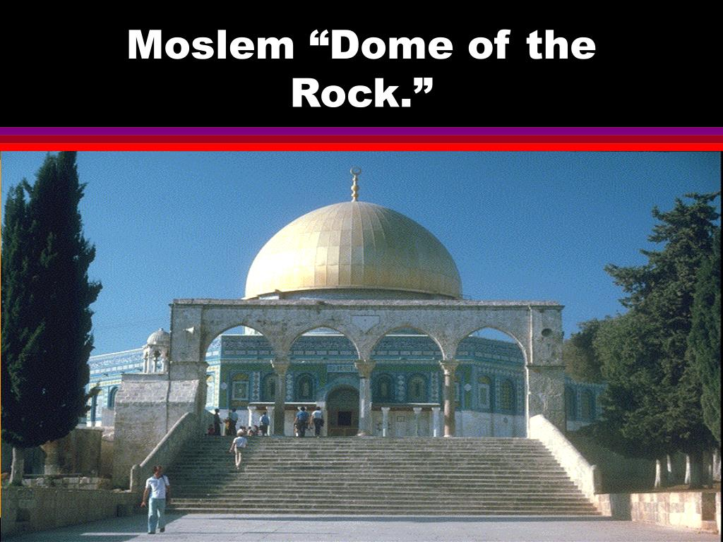 "Moslem ""Dome of the Rock."""