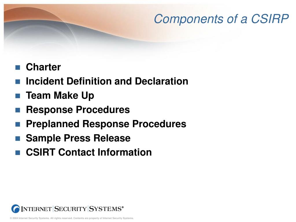 Components of a CSIRP
