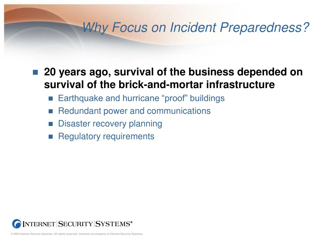 Why Focus on Incident Preparedness?