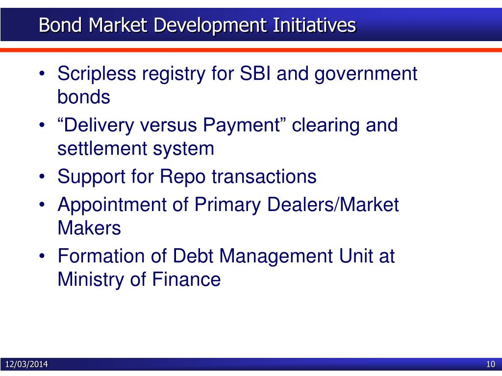 Bond Market Development Initiatives