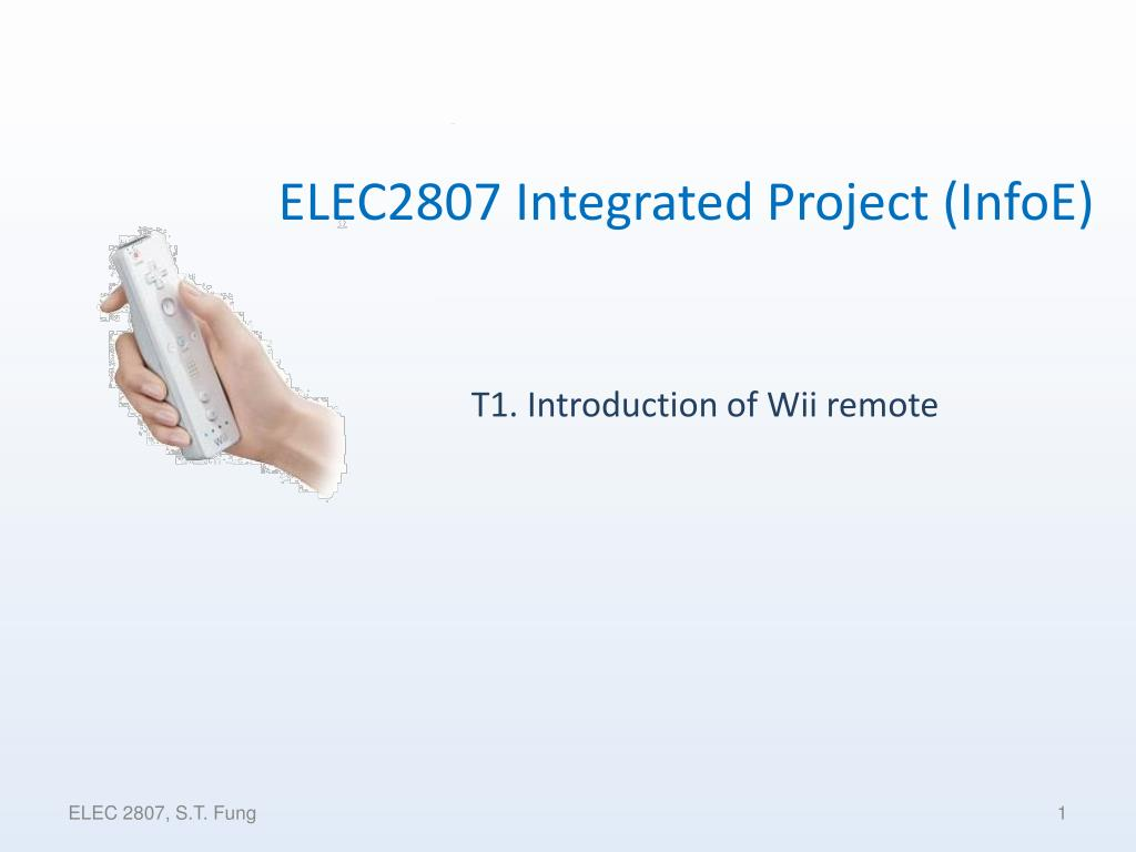 T1. Introduction of Wii remote