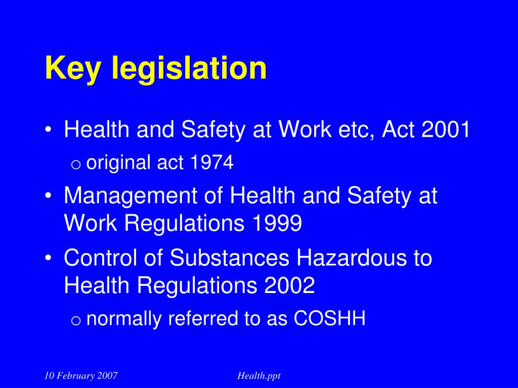 Health and safety presentation to managers investment