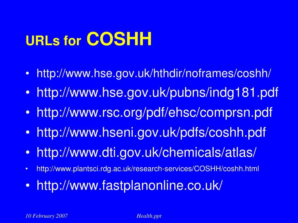URLs for