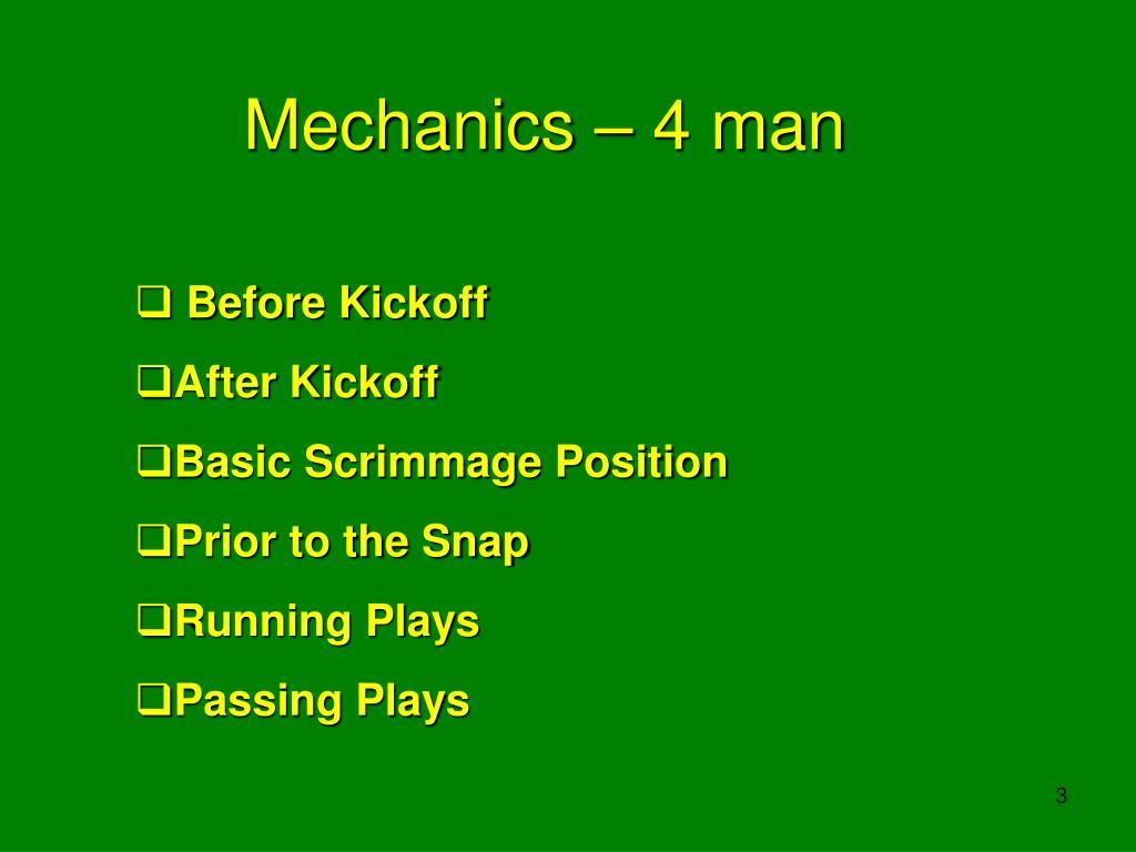 Mechanics – 4 man