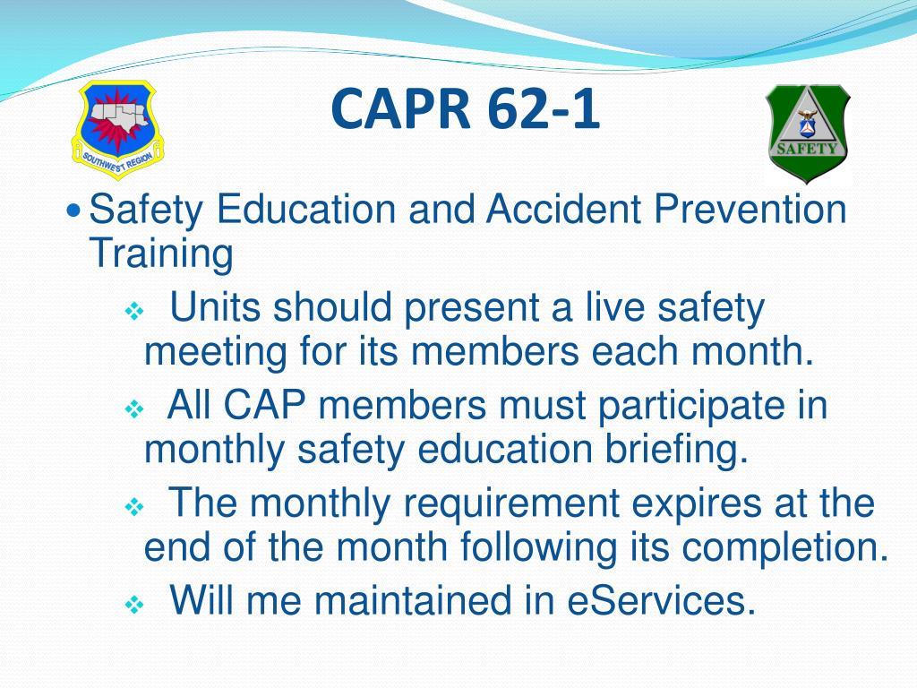 CAPR 62-1
