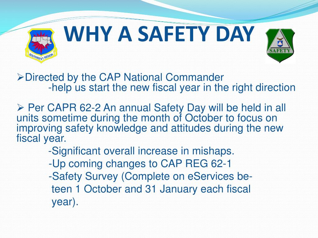 WHY A SAFETY DAY