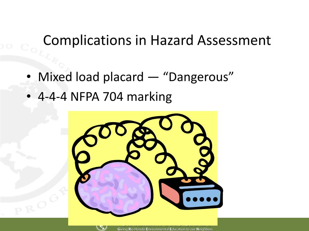Complications in Hazard Assessment