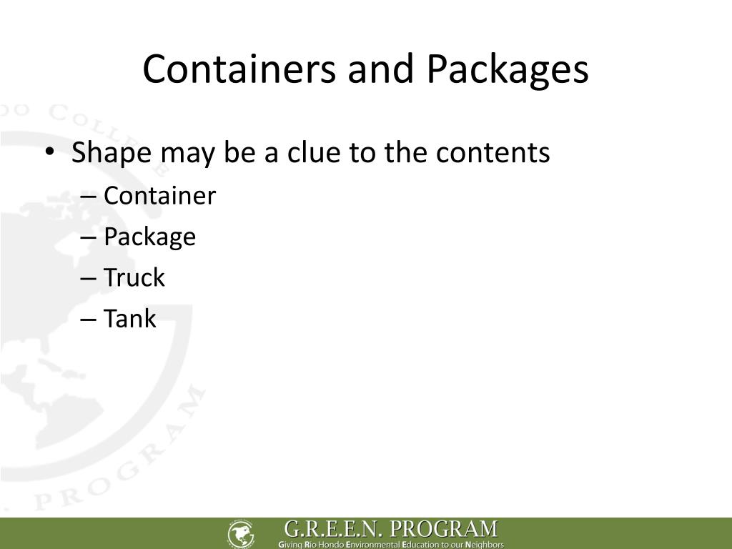 Containers and Packages