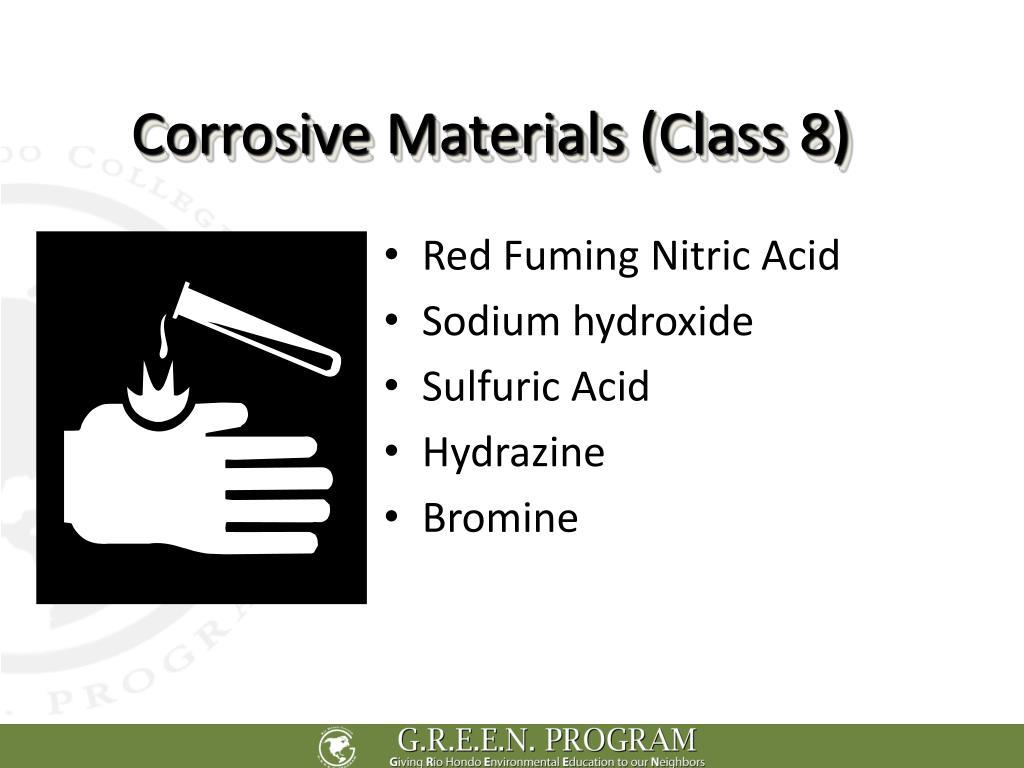 Corrosive Materials (Class 8)