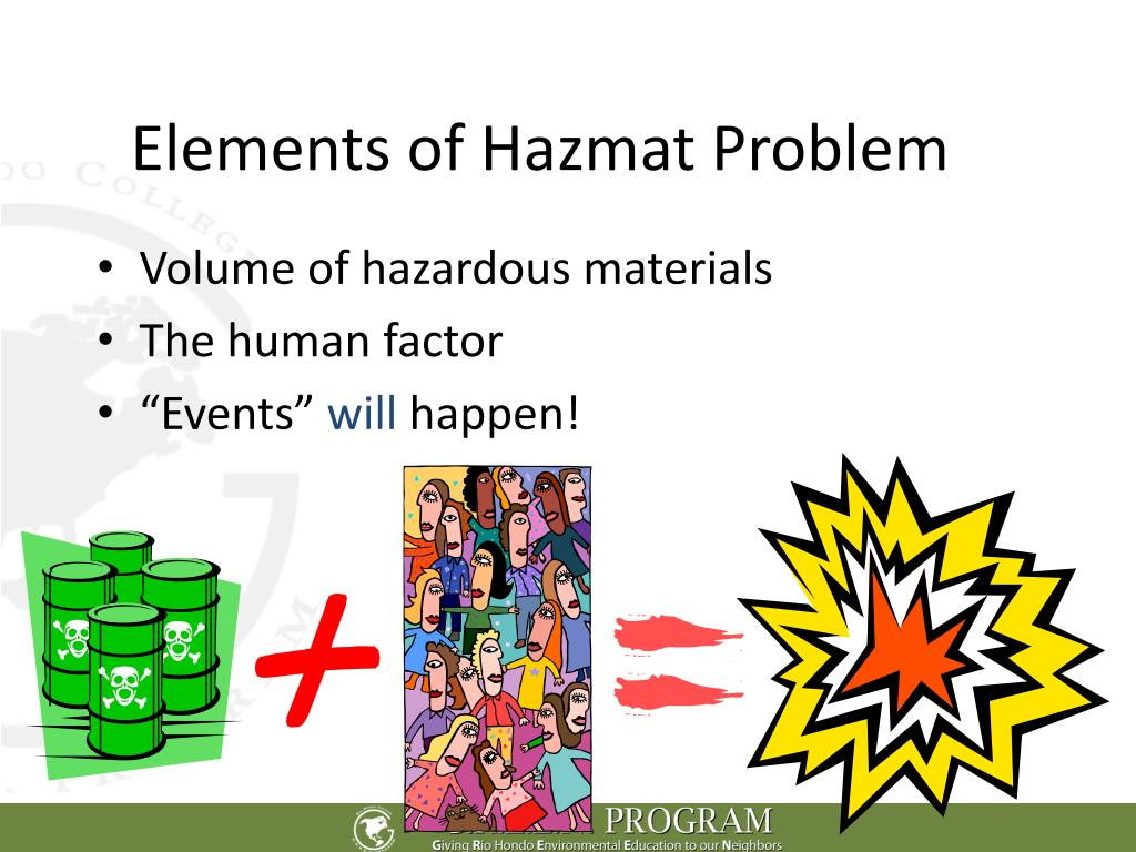 Elements of Hazmat Problem