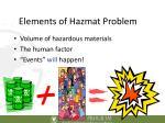 elements of hazmat problem
