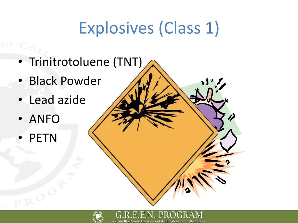 Explosives (Class 1)
