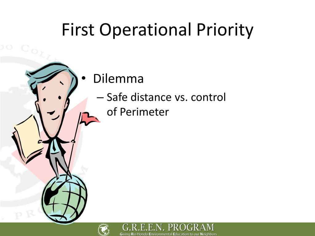 First Operational Priority