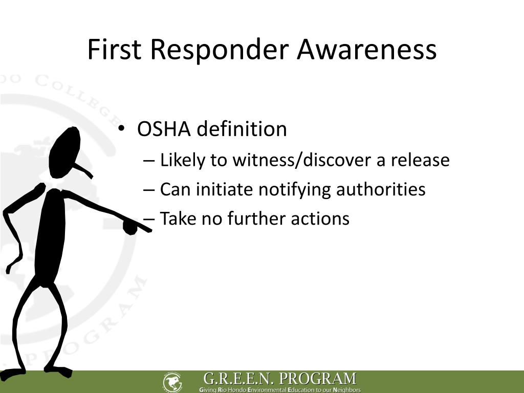 First Responder Awareness